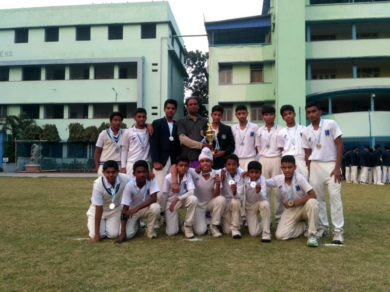 Cricket Team for the Inter-school Cricket Championship conducted by Don Bosco, Liluah