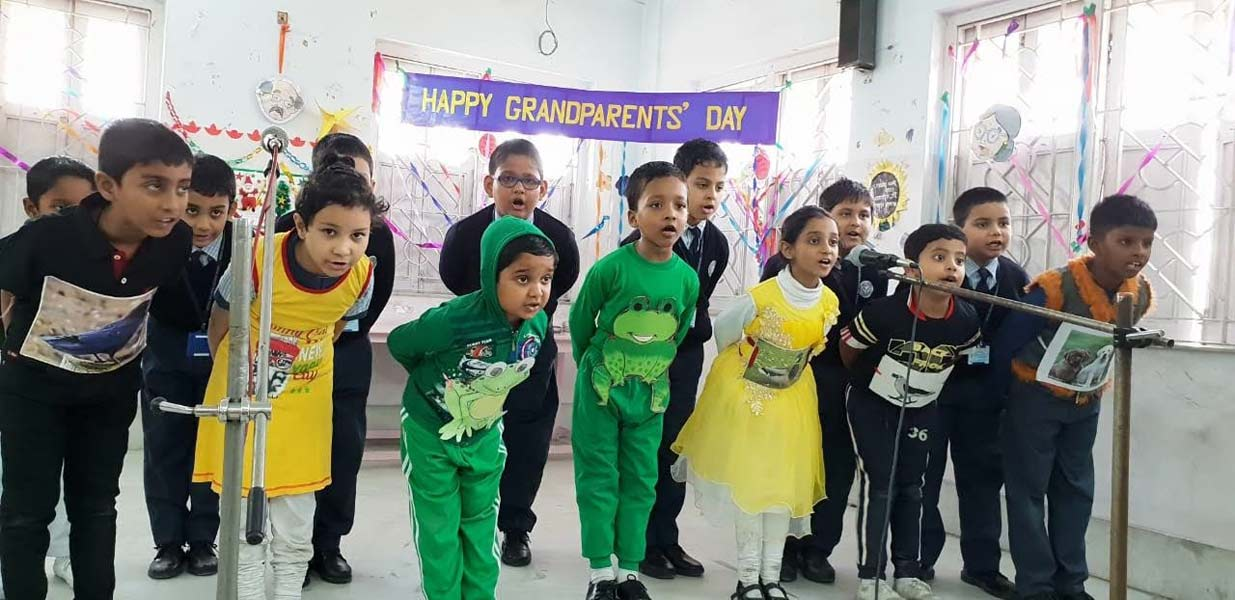 Grand Parents Day celebrated by LOWER NURSERY Children